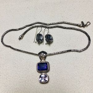 Jewelry - Amethyst and sterling necklace/earrings